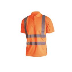 Polo haute visibilité - Manches courtes - Orange fluo - S