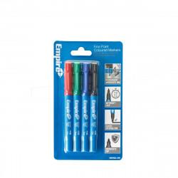 Marqueurs couleurs pointes fines EMPIRE - 4pc