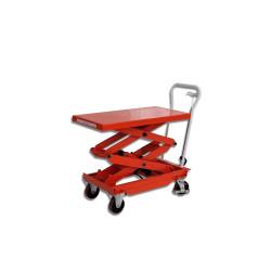 Table élévatrice manuelle - double ciseaux - 500 kg