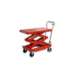 Table élévatrice manuelle - double ciseaux - 300 kg