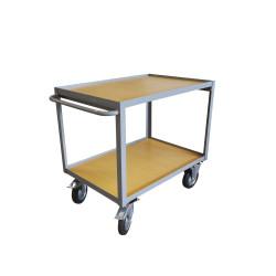 Chariot de transport - 2 plateaux en bois - 300 kg