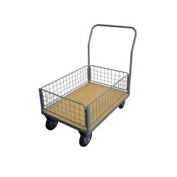 Chariot de manutention - plateau en bois - 4 dossiers bas - 500 kg