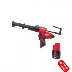 Pistolet à Colle 310ml MILWAUKEE M12 PCG 310C Batterie M12 Li-Ion 2.0Ah 4933451057