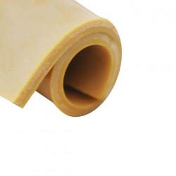 Feuille caoutchouc naturel para beige anti-abrasion 100x140cm épaisseur 4mm