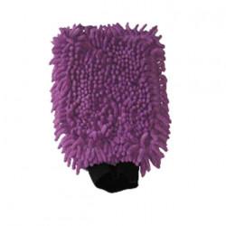 Gant de lavage microfibre double face violet