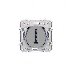 Prise téléphone conjoncteur T Odace Gris Aluminium Schneider Electric