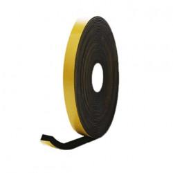 Mousse noire adhésive caoutchouc epdm 15x15mm longueur 6m