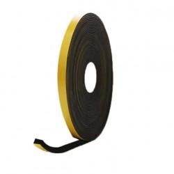 Mousse noire adhésive caoutchouc epdm 10x15mm longueur 10m