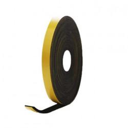 Mousse noire adhésive caoutchouc epdm 15x2mm longueur 10m