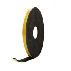Mousse noire adhésive caoutchouc epdm 10x2mm longueur 10m
