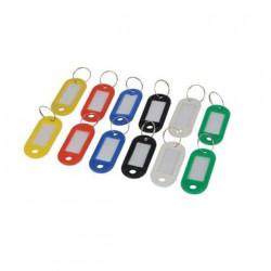 Porte-clés étiquettes avec plastiques colorés x12