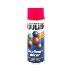 Peinture aérosol Julien fluo rouge 400ml