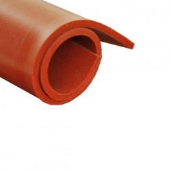 Feuille caoutchouc silicone rouge 100x120cm épaisseur 5mm