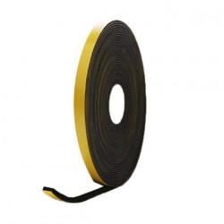 Mousse noire adhésive caoutchouc epdm 10x8mm longueur 10m