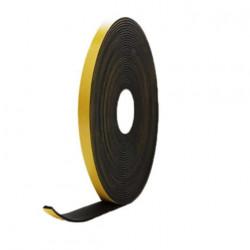 Mousse noire adhésive caoutchouc epdm 10x3mm longueur 10m