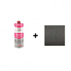 Pack résine epoxy type R123 Soloplast 1 Kg - 1m2 Fibre de carbone Serge 195g/m2
