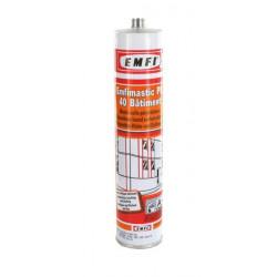 Mastic polyuréthanne blanc EMFI PU 40 bâtiment 300ml X 5