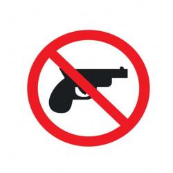 Adhésif polymère plastifié U.V arme à feu interdite