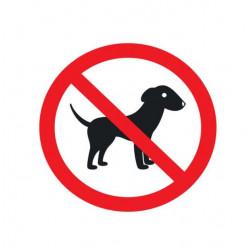 Adhésif polymère plastifié U.V. chien interdit