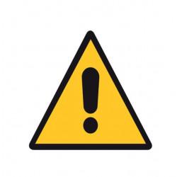 Adhésif polymère plastifié U.V danger général