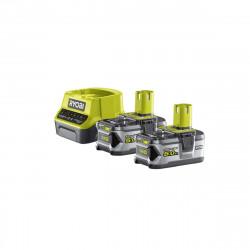 Pack 2 batteries RYOBI 18V OnePlus 5.0Ah LithiumPlus - 1 chargeur rapide 2.0Ah RC18120-250