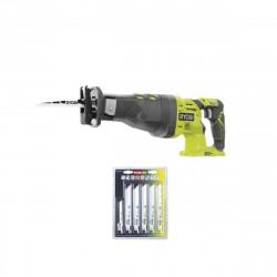 Pack RYOBI Scie sabre 18V OnePlus R18RS-0 - 6 lames OnePlus universelles bois et métal RAK06RB