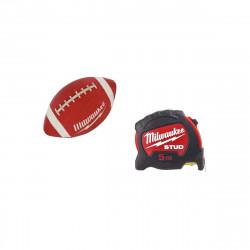 Pack MILWAUKEE Mètre ruban 5m stud 27mm - ballon football américain