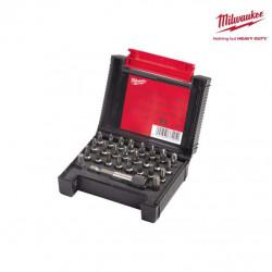 Coffret 27 pièces MILWAUKEE - embouts de vissage 4932352747