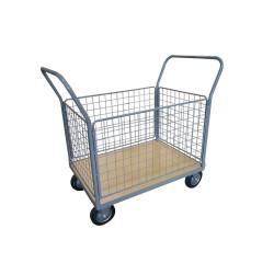 Chariot de manutention - plateau en bois - 4 dossiers - 500 kg