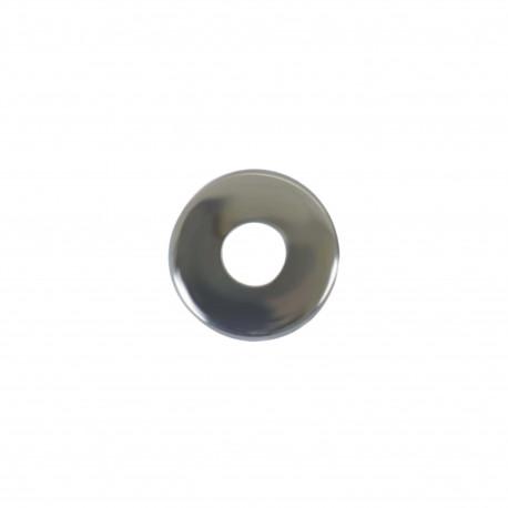 Rosaces rondes batteuses diamètre 20 - inox 304 brillant x2