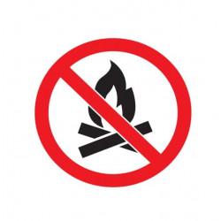 Adhésif polymère plastifié U.V feu interdit