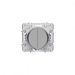 Va et vient Odace LED Gris Aluminium Schneider Electric
