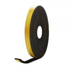 Mousse noire adhésive caoutchouc epdm 15x5mm longueur 10m