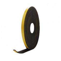 Mousse noire adhésive caoutchouc epdm 10x5mm longueur 10m