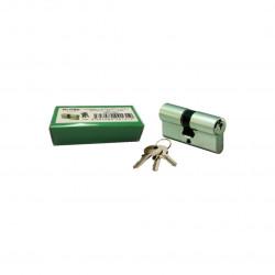 Cylindre laiton nickelé 30 x 40 mm avec 3 clés Klose Besser
