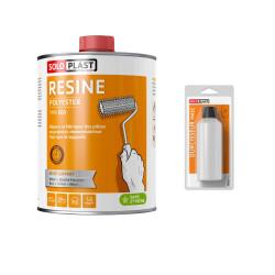 Résine polyester Soloplast type éco 2 KG - avec durcisseur