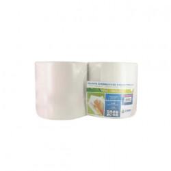 Bobine blanche pure ouate COBIC T1000 Pack 2 rouleaux