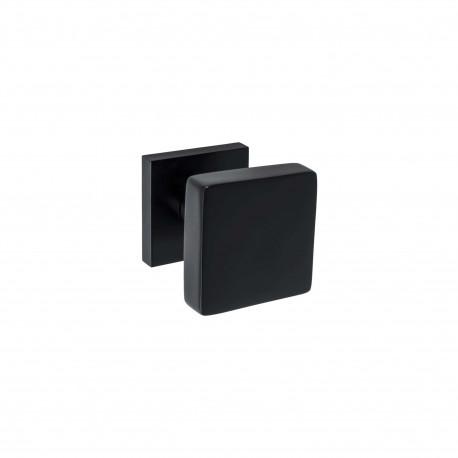 Bouton de tirage carré - grand cubic diamètre 70mm - aluminium noir