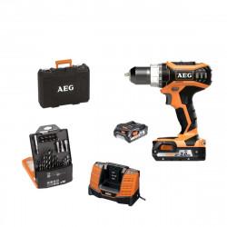 Perceuse à percussion AEG 18V - 2 batteries 2.0 Ah - chargeur - Coffret d'accessoires 30 pièces BSB18C2LI-202CKIT1