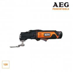 Outil multifonctions AEG 12V Li-ion - 2 batterie 1.5Ah - 1 chargeur 30min - OMNI12CLI152B MT