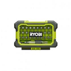 Coffret renforcé RYOBI 32 embouts de vissage Torx T7-T40 - porte-embouts à fixation rapide RAK32TSD