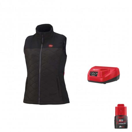 Veste chauffante Milwaukee sans manche femme M12 HBWPLadies 0 Taille M 4933464804 Chargeur de batterie 12V M12 C12 C Batterie M12 12V 3.0Ah