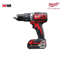Perceuse percussion Milwaukee M18 BPD-202X - 2 batteries 18V Li-Ion 2.0Ah - 1 chargeur 4933446189