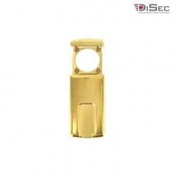 Protection magnétique DISEC pour cylindre rond - diamètre 37mm max. - laiton brillant MG410FOL4W