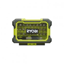 Coffret renforcé RYOBI 32 embouts de vissage - porte-embouts à fixation rapide RAK32MSD