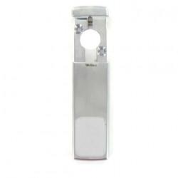 Protection magnétique Disec pour cylindre européen chrome satiné