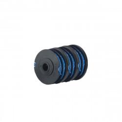 Lot de 3 bobines double fil RYOBI diamètre 1.65mm pour coupe-bordures électriques RAC123
