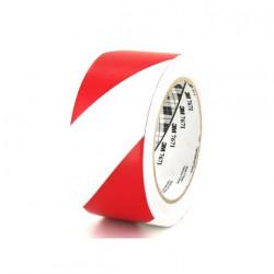 Ruban adhésif vinyle 3M 767 rouge et blanc 50mm