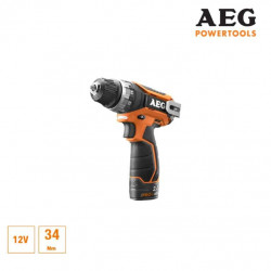 Perceuse visseuse AEG 12V Li-ion - 2 batteries 2.0Ah Pro-Lithium - 1 chargeur 40min - BS12C2-202C