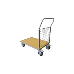 Chariot 250 kg plateau bois 1 dossier 1000x700 mm